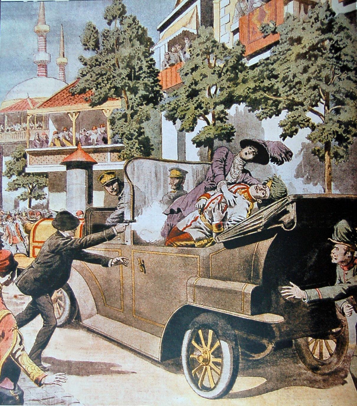 L'attentat de Sarajevo, 1914.