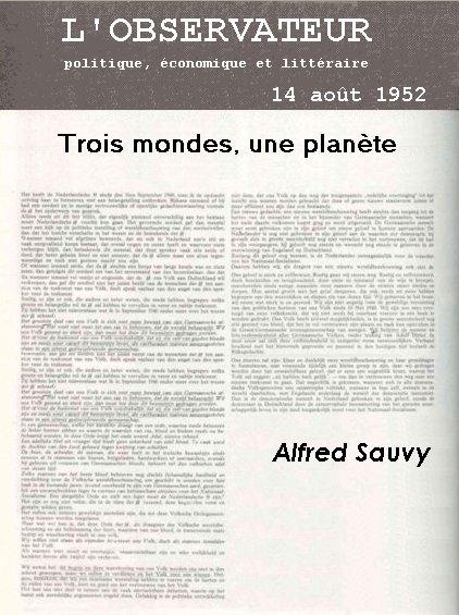 Artículo en el que aparece por primera vez el concepto de Tercer Mundo. Crédito: Wikipedia