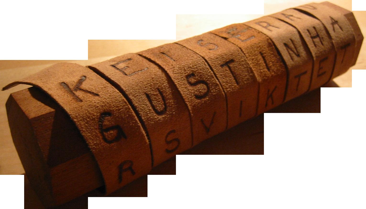 Štafeta sa šifrovanom porukom, 700 godina pre nove ere