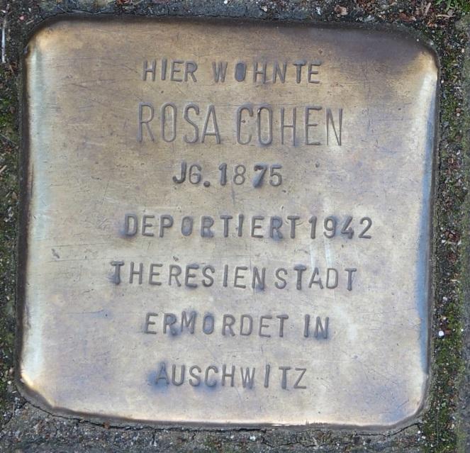Stolperstein in Soest Jakobistraße 27, Rosa Cohen