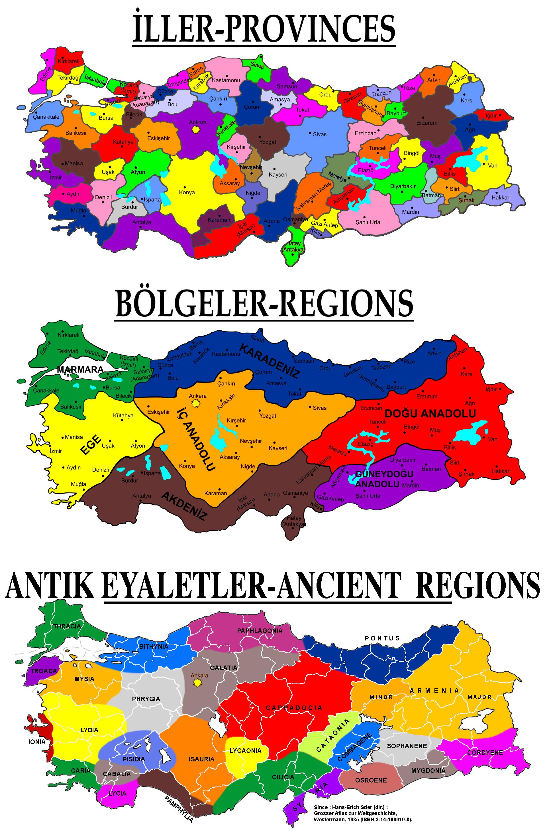 Régions historiques de Turquie - Wikiwand
