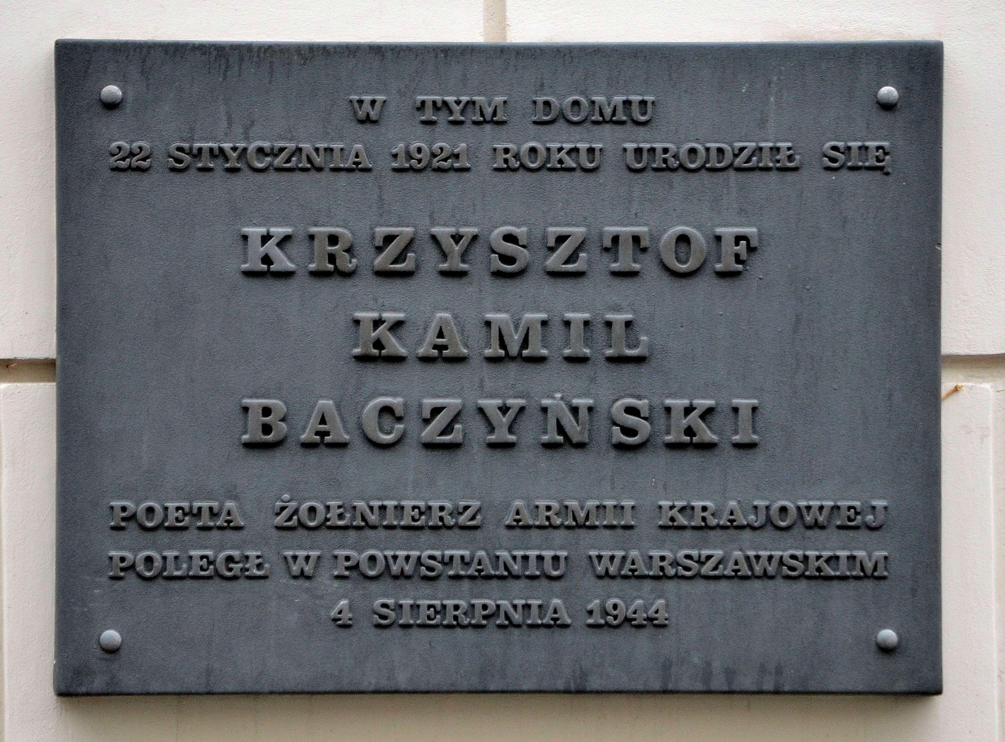 Krzysztof Kamil Baczyński Wikipedia Wolna Encyklopedia