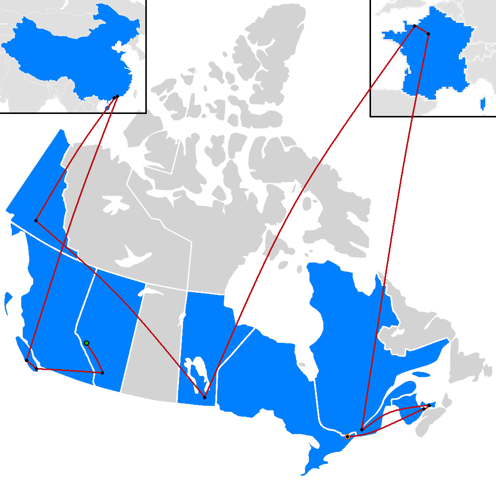 Amazing Org: File:The Amazing Race Canada 2 Map.png