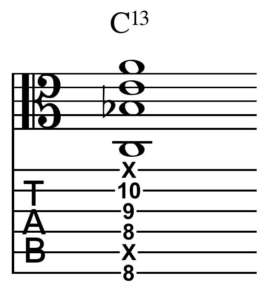 File:Thirteenth chord C13 guitar b.png - Wikimedia Commons