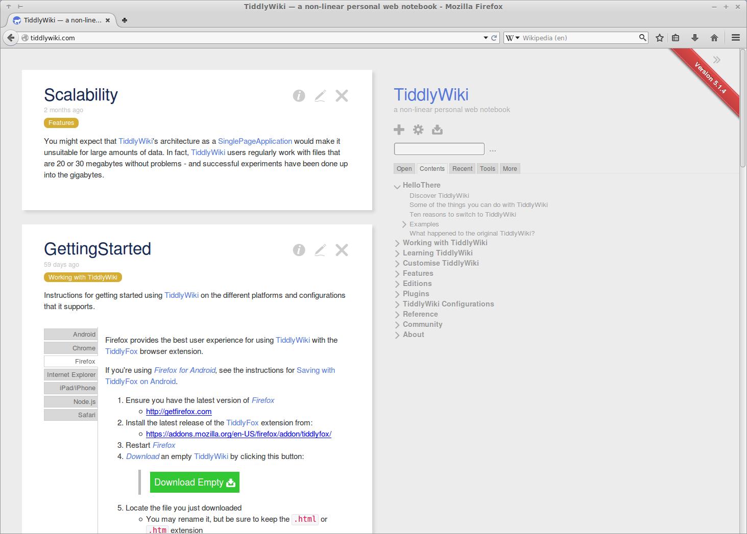 File:TiddlyWiki 5 1 4 screenshot png - Wikimedia Commons