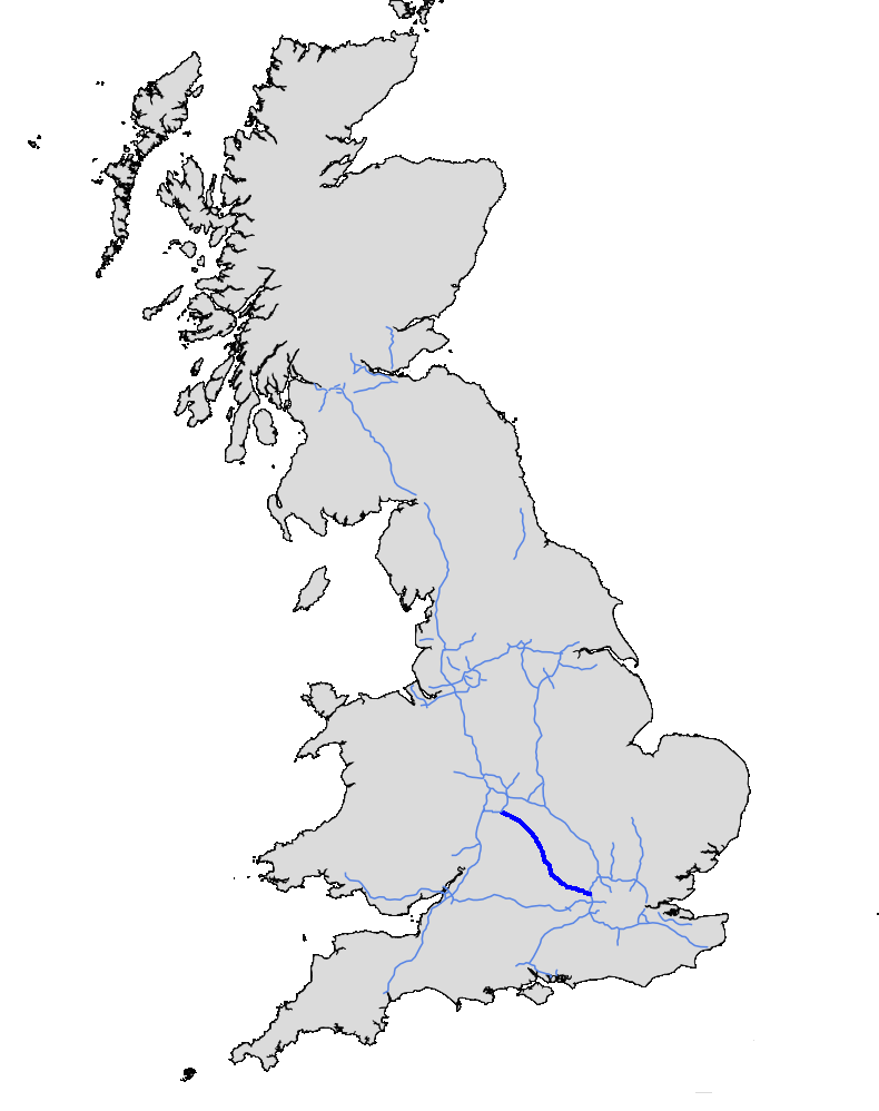Map Of M40 File:UK motorway map   M40.png   Wikimedia Commons