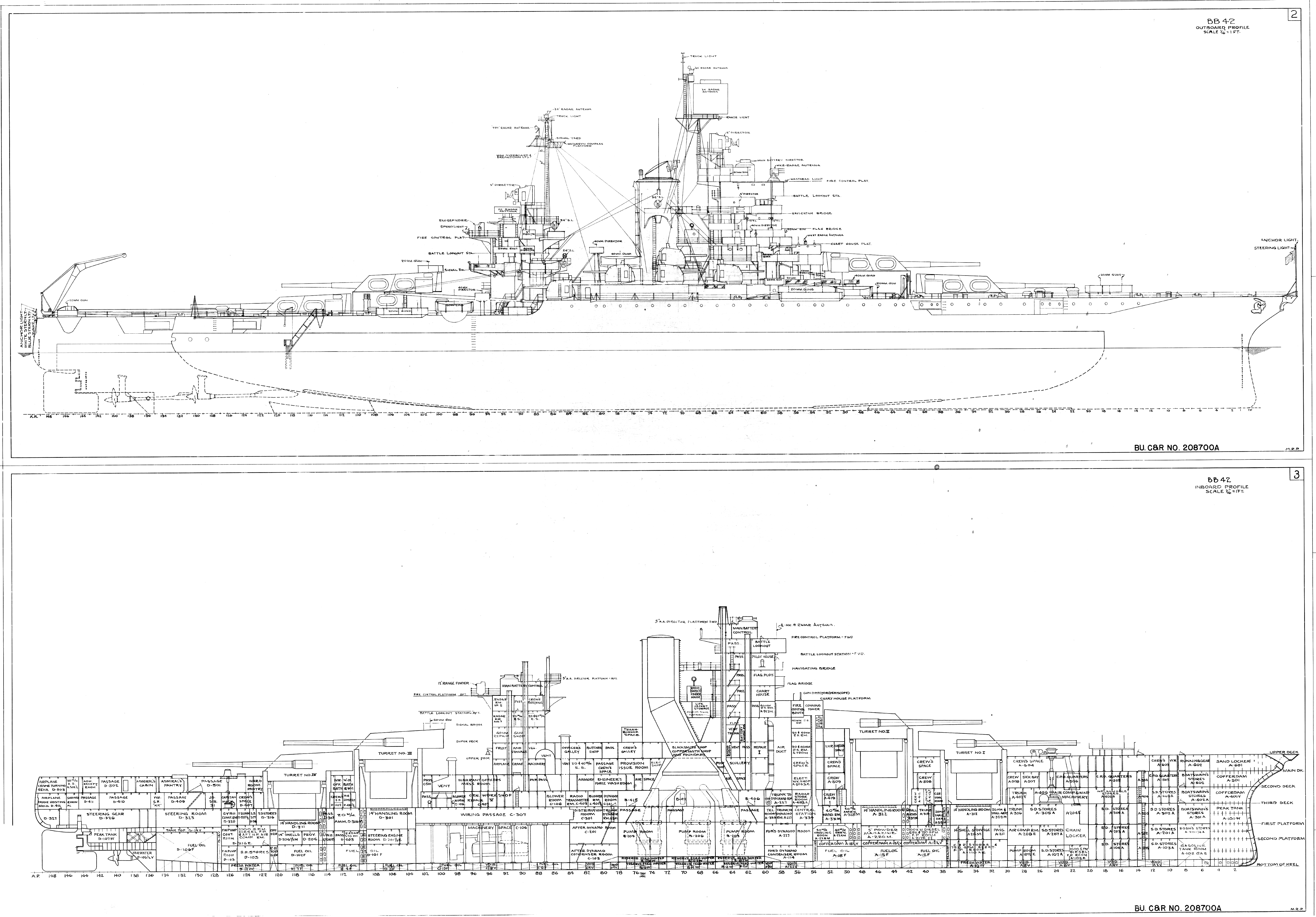 File Uss Idaho Bb 42 Inboard And Outboard Profiles C1944