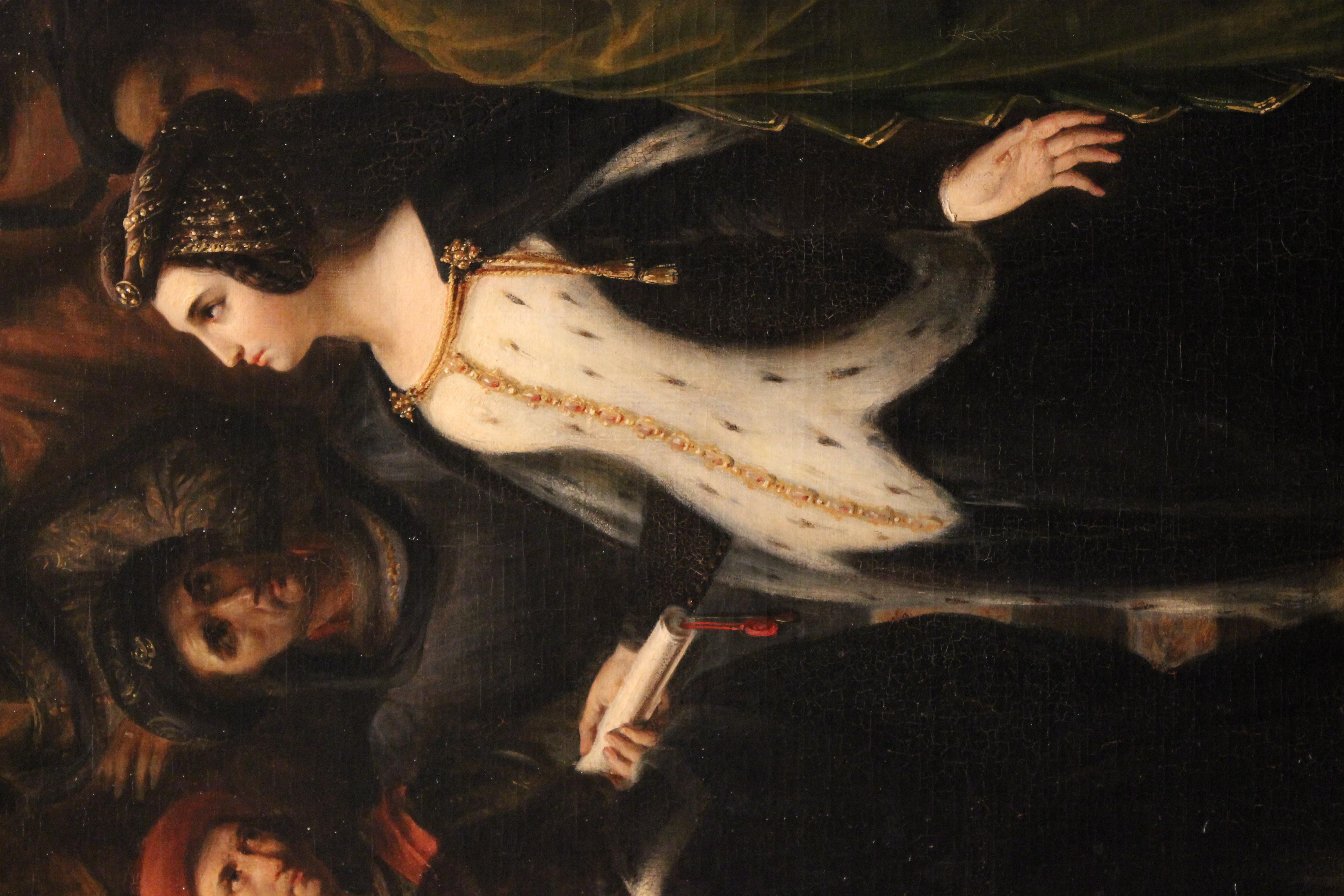file valentine de milan implore la justice du roi charles vi pour l assassinat du duc d orleans alexandre colin mba lyon 2014 detail 2 jpg wikimedia commons