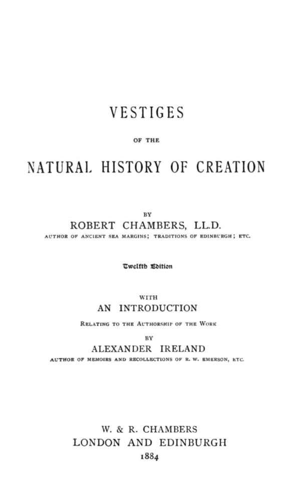Vestiges Of The Natural History Of Creation Pdf