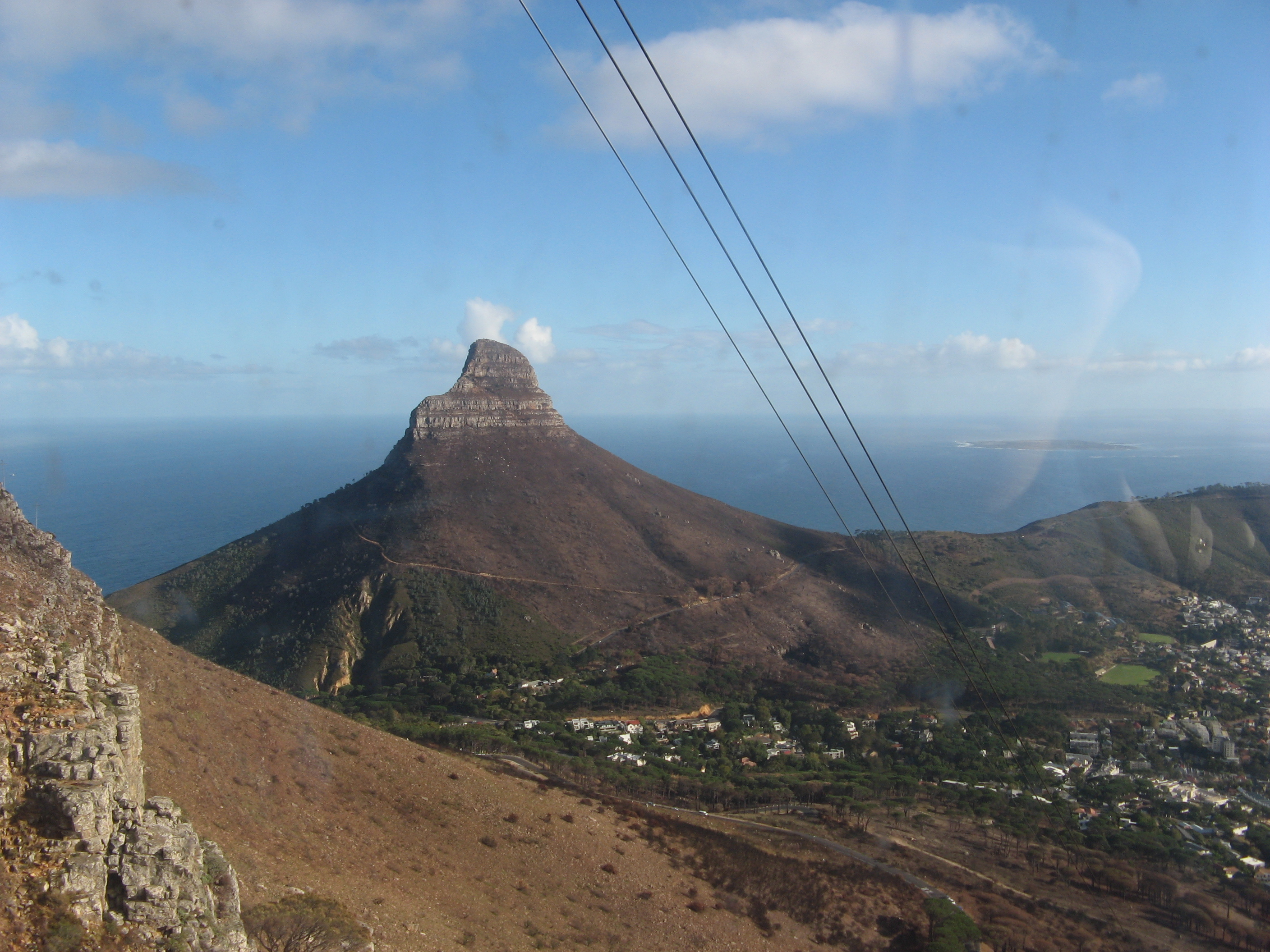 File View From The Table Mountain Capetown South Africa