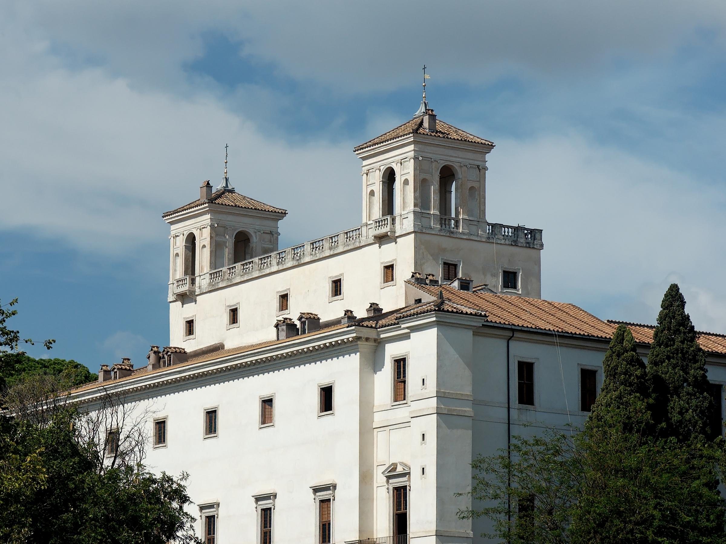 La Villa Médici, sede oficial de la Academia Francesa en Roma desde 1803.