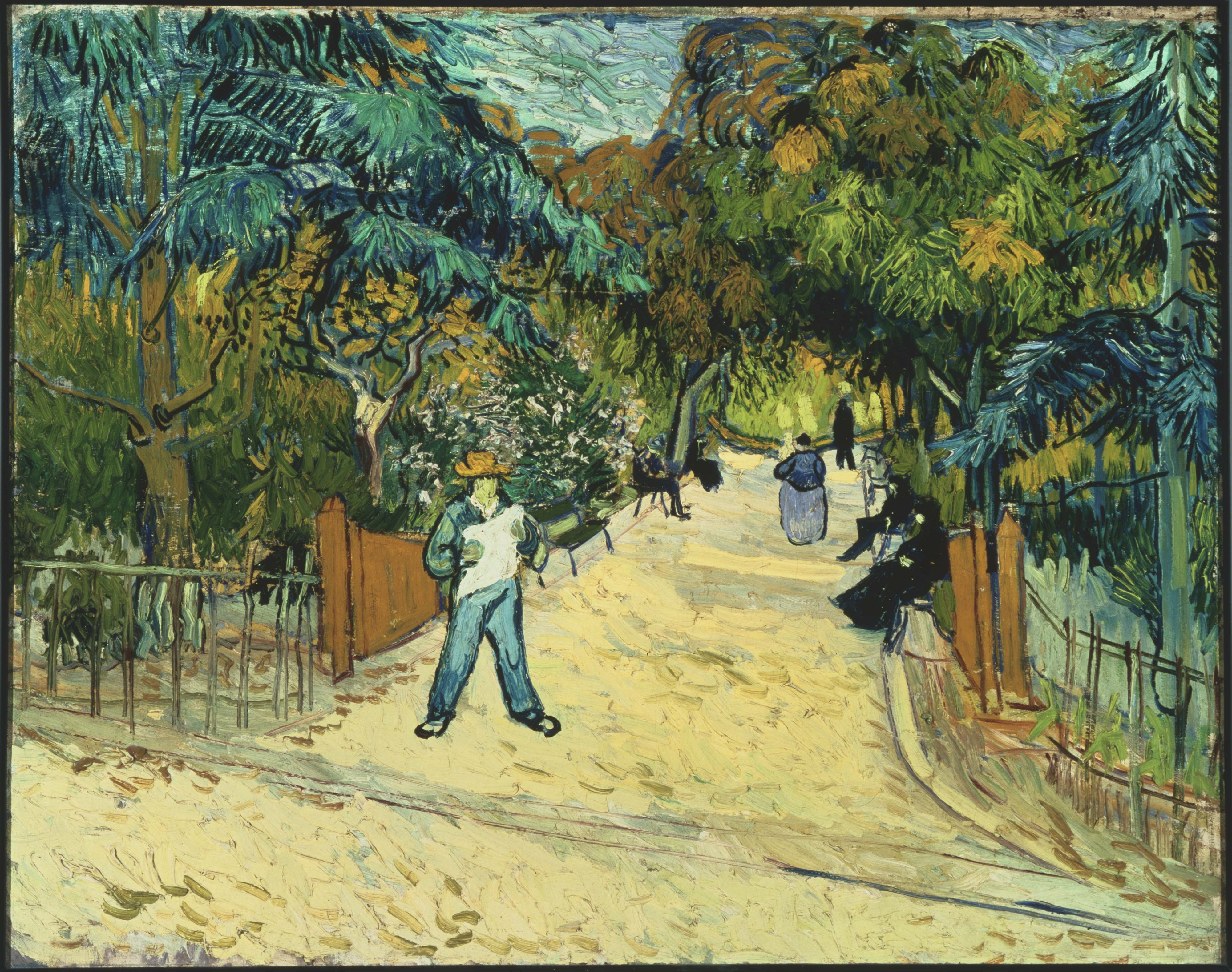 Vincent van Gogh Entrance to the Public Gardens in Arle Google Art Project