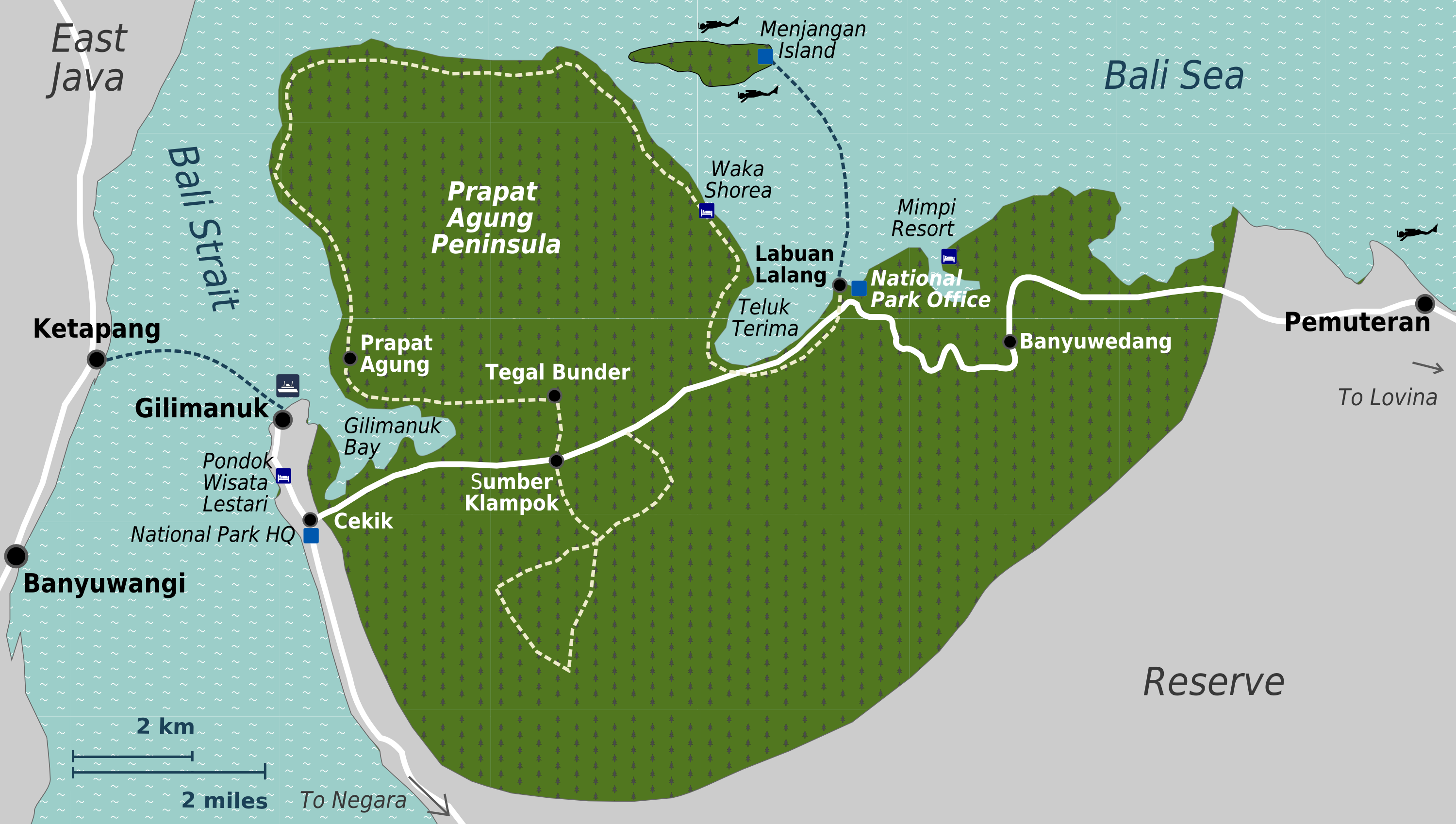 Carte Bali Pemuteran.File West Bali National Park Map Png Wikimedia Commons