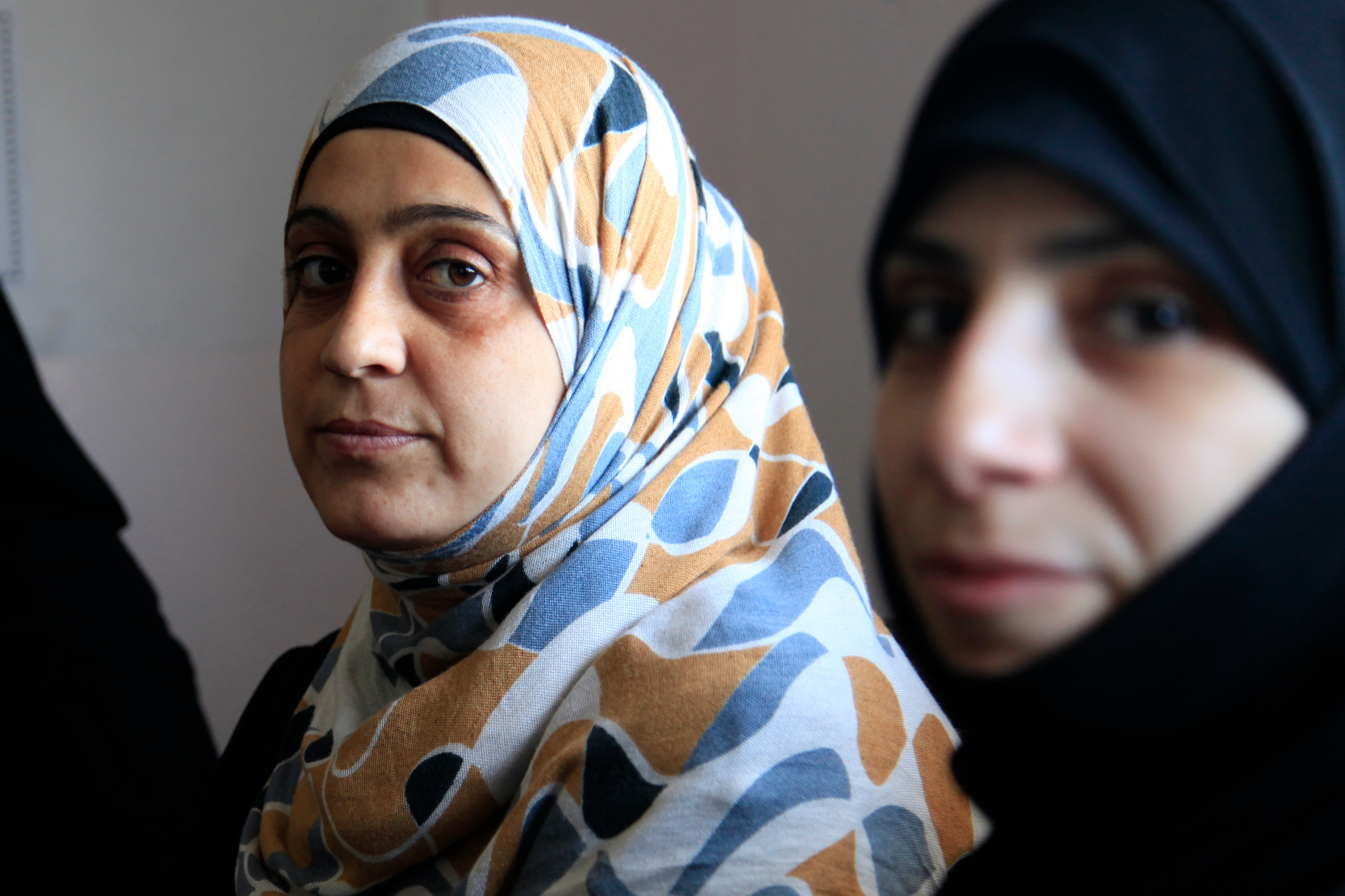 File:Women refugees from Syria at a clinic in Jordan ...