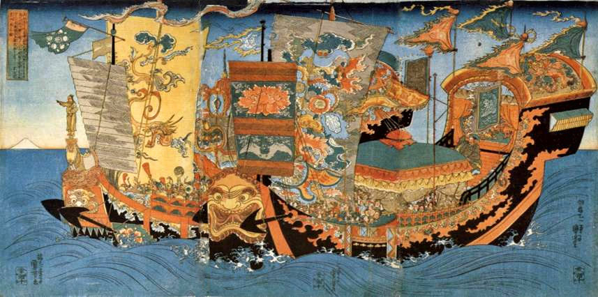 Xu Fu's ships set sail in 219 BC in search of the medicine for immortality.