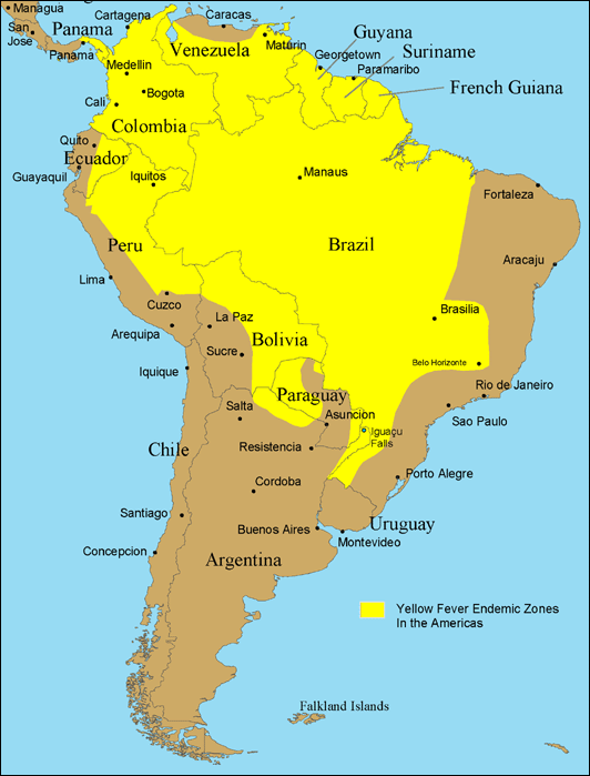 Range in South America
