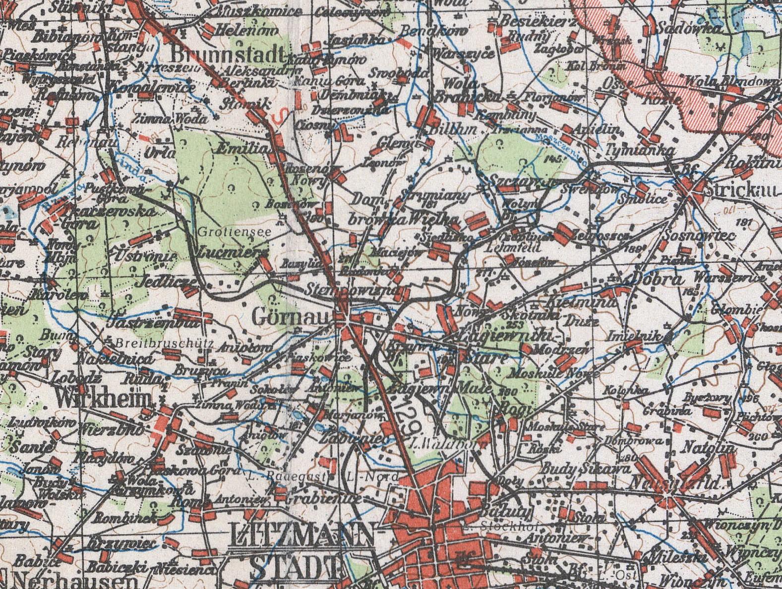 File Zgierz Gornau Mapa Niemiecka 1944 Jpg Wikimedia Commons