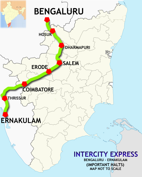 bangalore city�ernakulam intercity express wikipedia