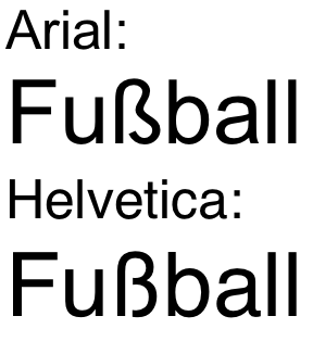 File:ß in Arial + Helvetica png - Wikimedia Commons