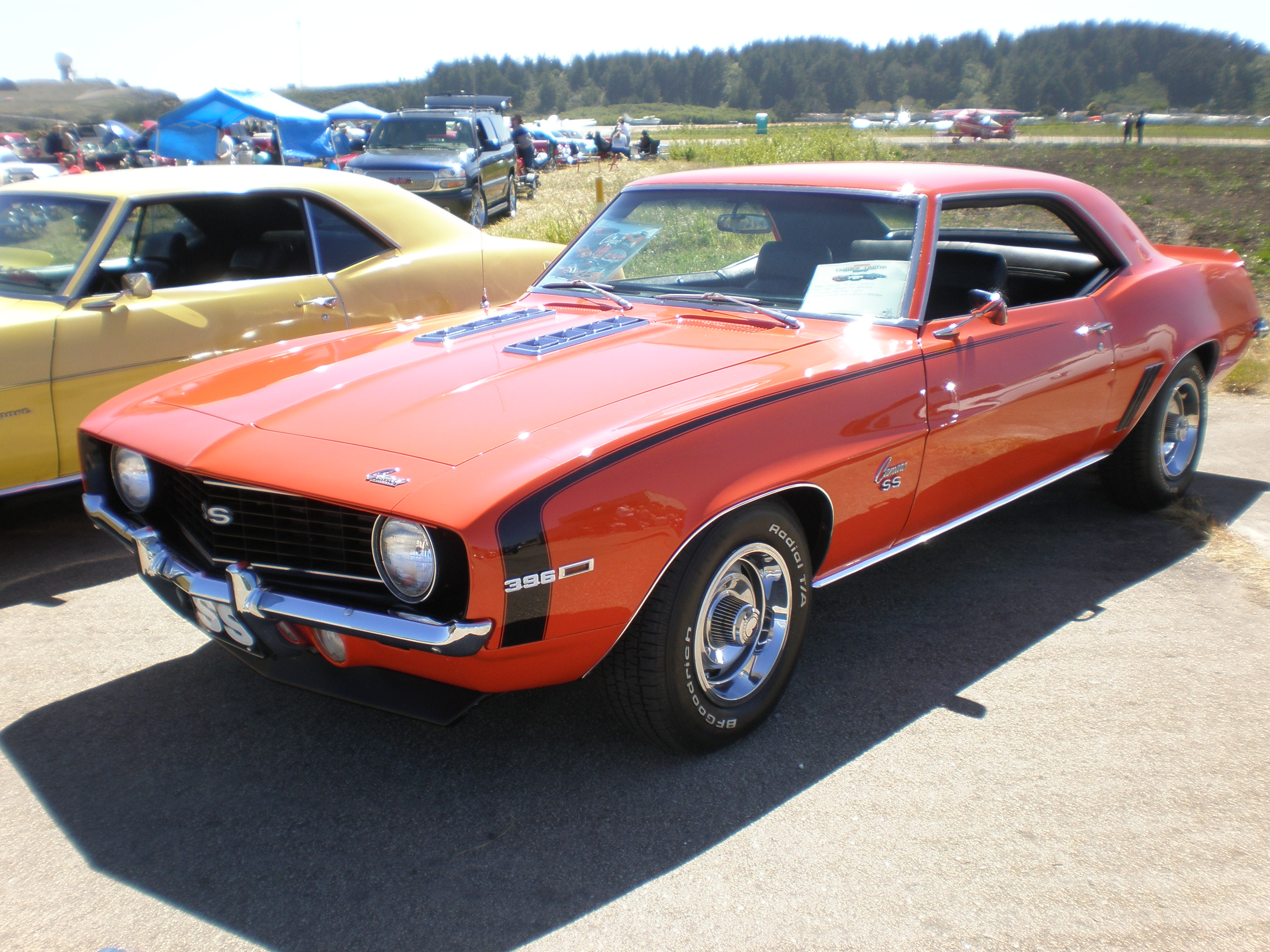 Description 1969 red Chevrolet Camaro SS side.JPG