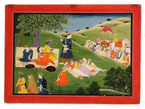 Rama Leaves for the Forest and the Citizens of Ayodhya Return Disconsolate to the City