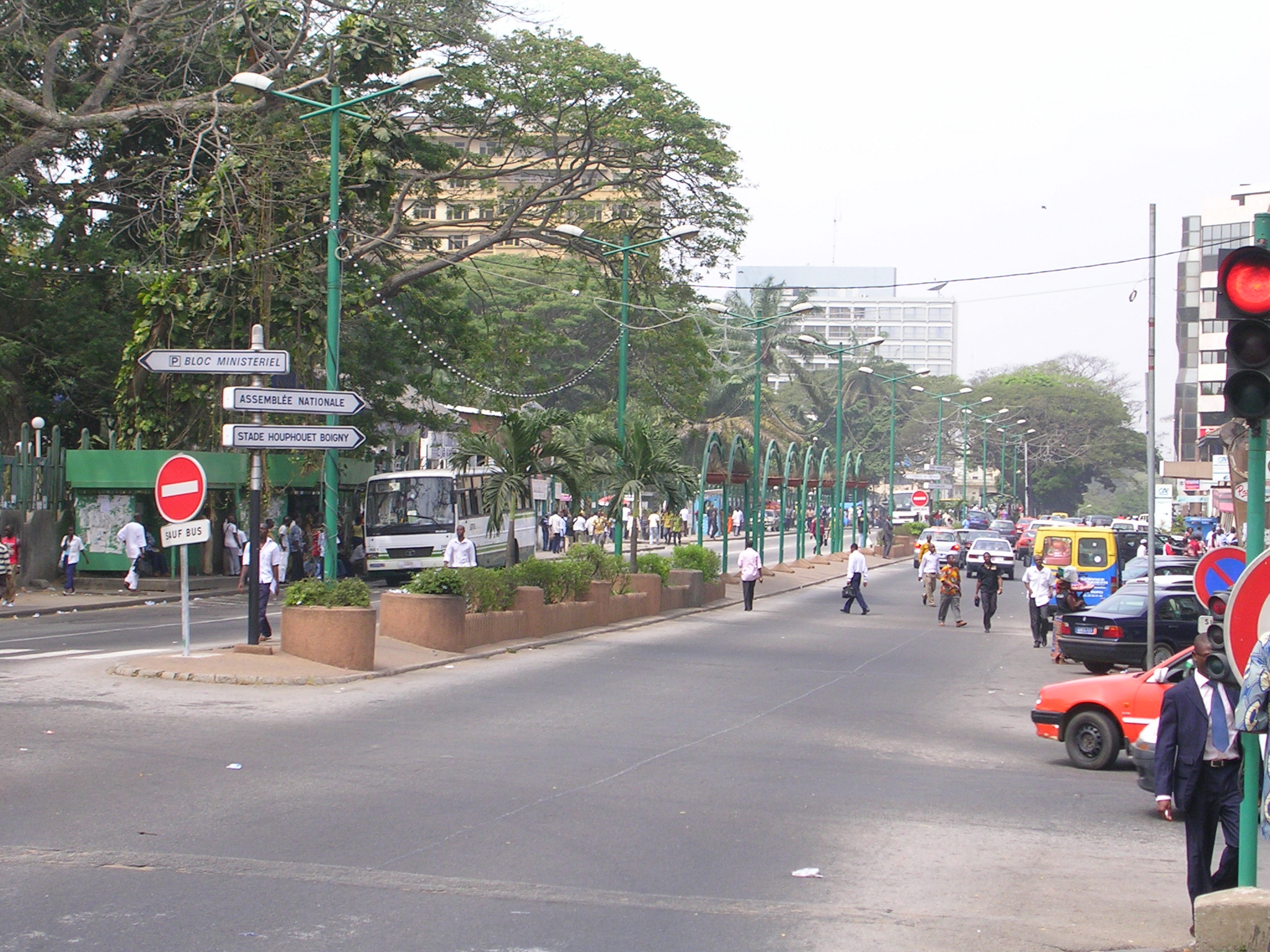 Abidjan rue en centre de la ville