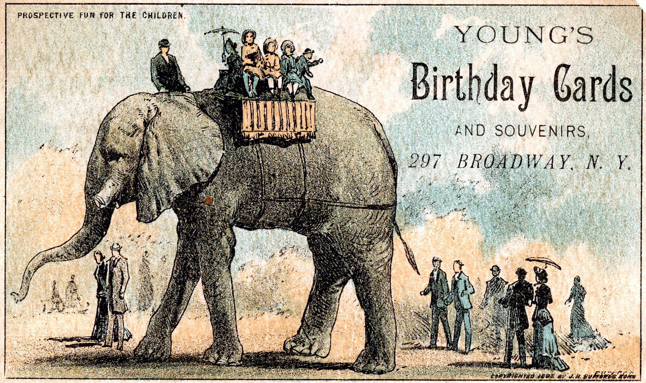 FileAdvertising card featuring Youngs birthday cards featuring – History of Birthday Cards
