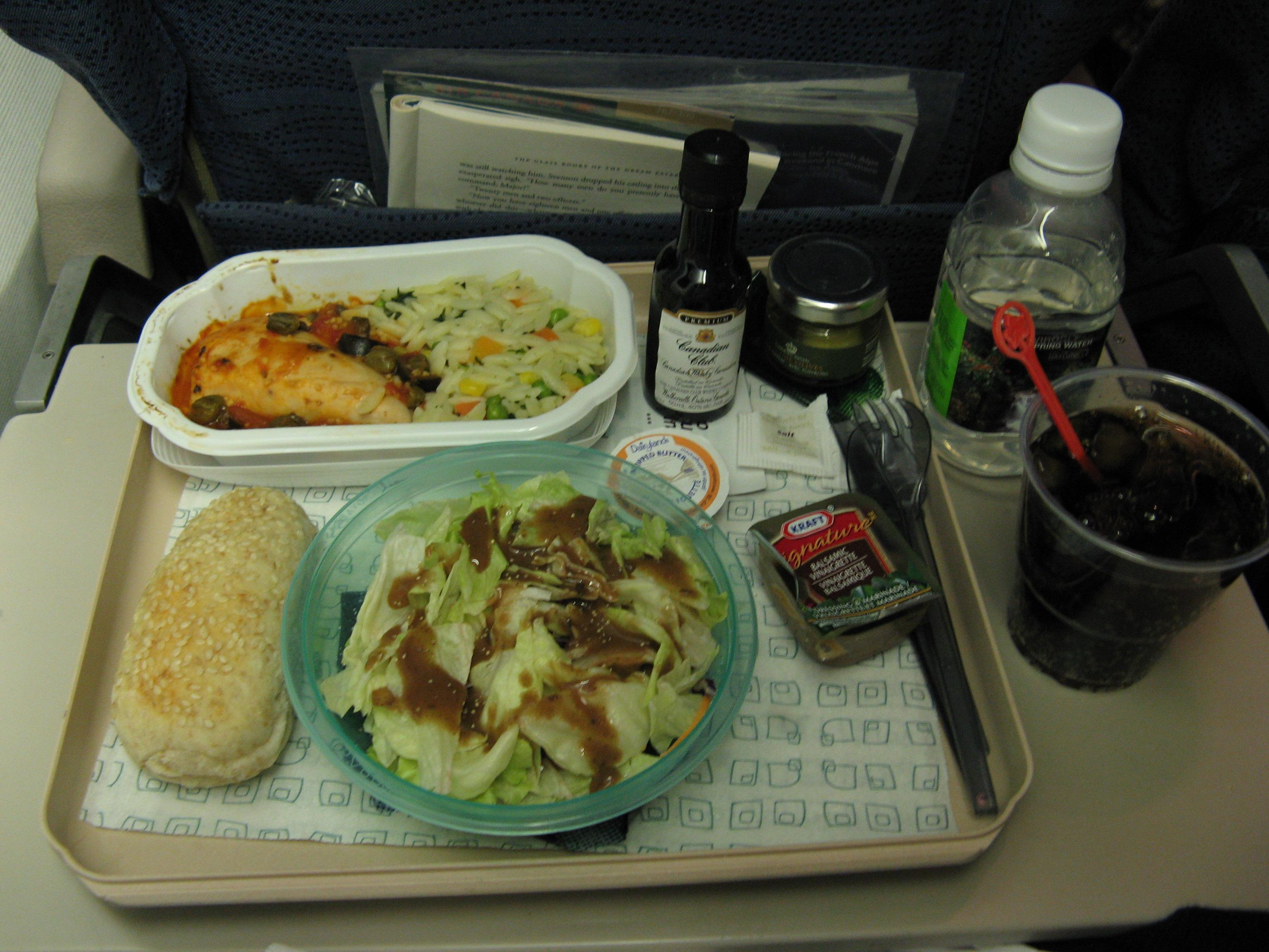Air Canada Economy Food