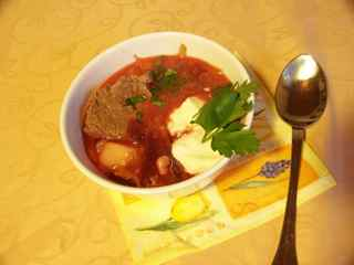 Bowl of Ukrainian Borscht