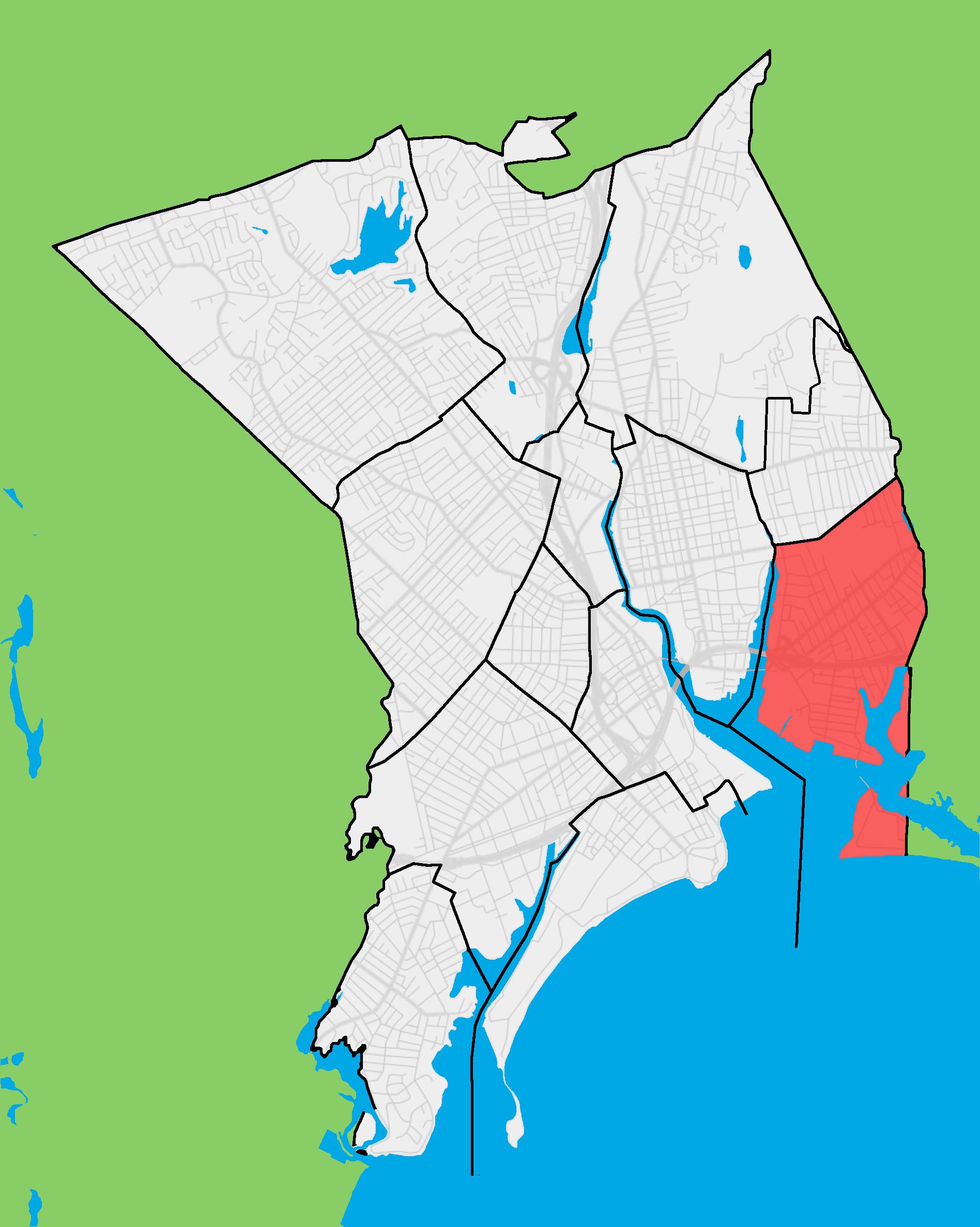 FileBridgeport neighborhood map East Endpng Wikimedia Commons