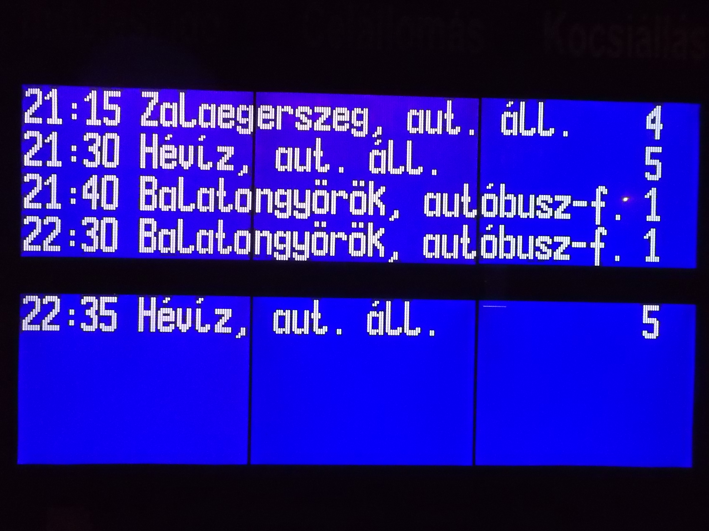 File Bus Station Information Board Departures In
