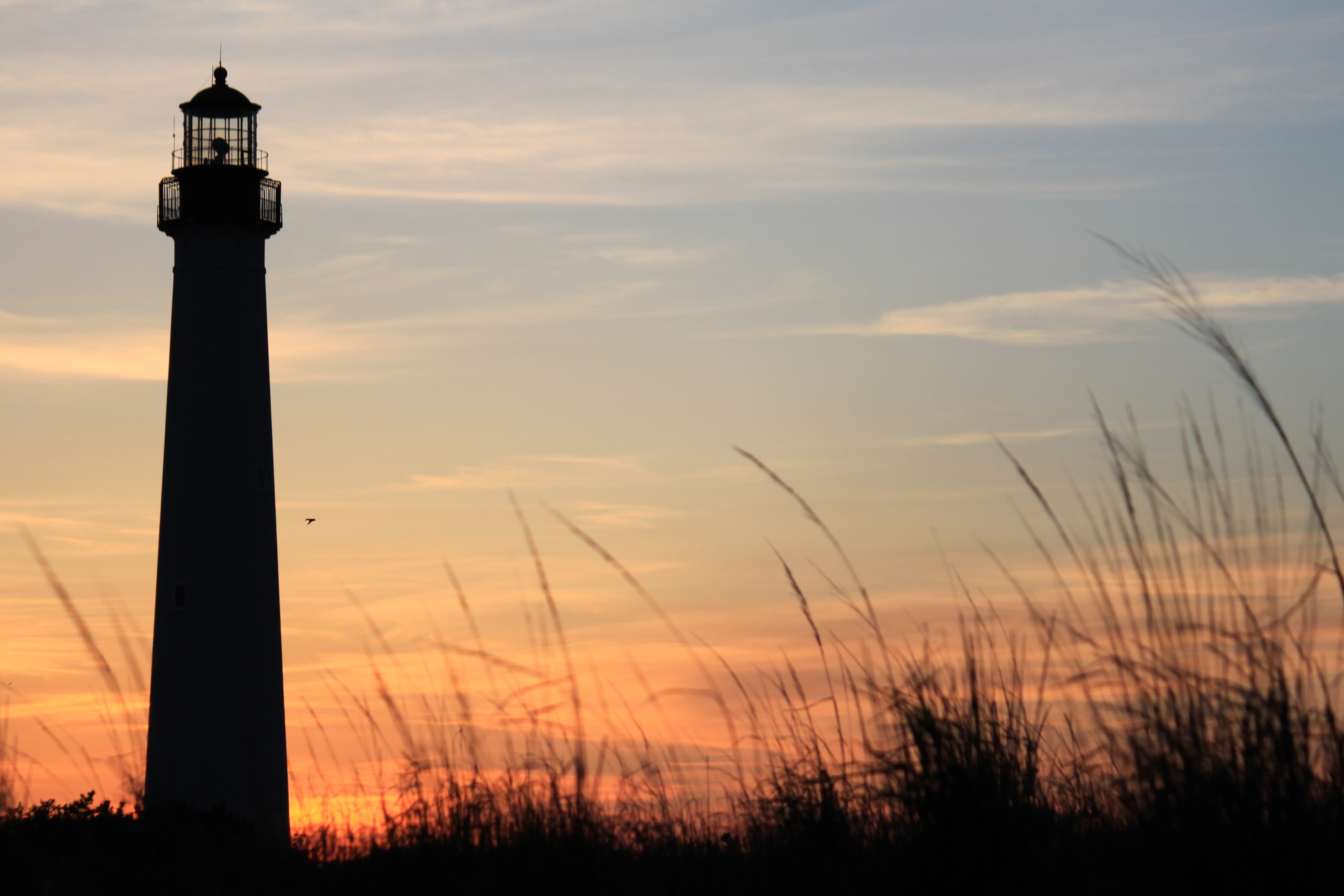 File cape may lighthouse from the beach wikimedia commons - Lamp may day ...