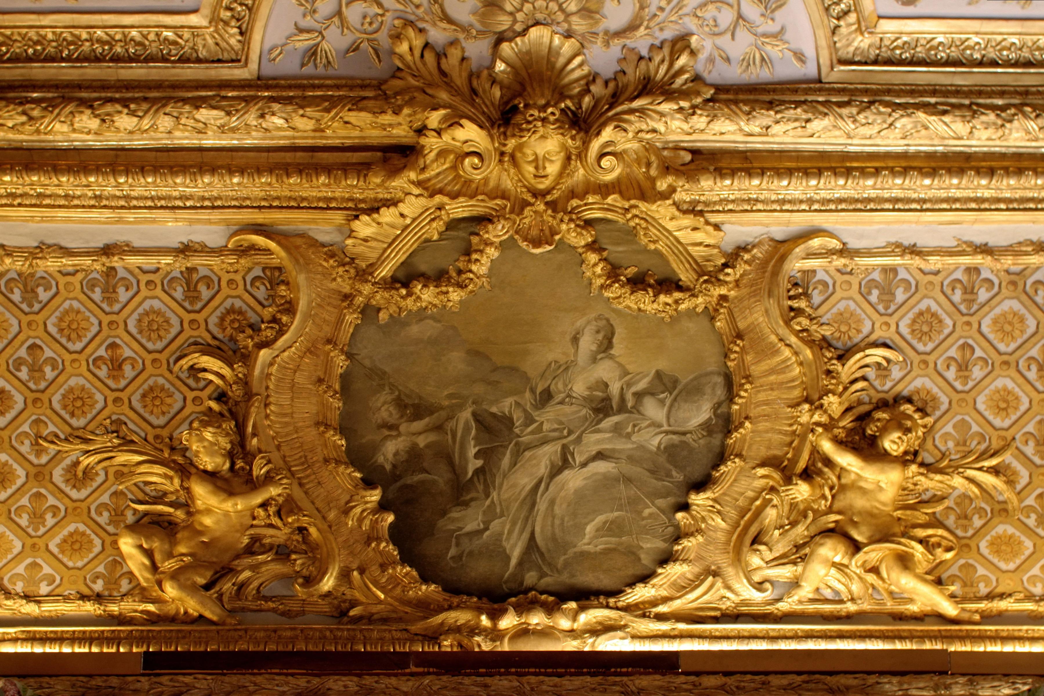 File Ch Teau De Versailles Chambre De La Reine Voussure Vertu Royale Fran Ois