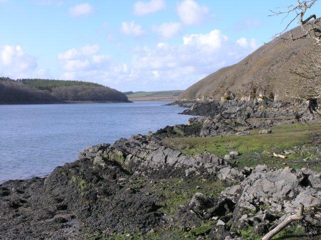 Cleddau river at low tide - geograph.org.uk - 758940