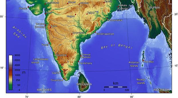 Indian Coastal Plains And Islands Map