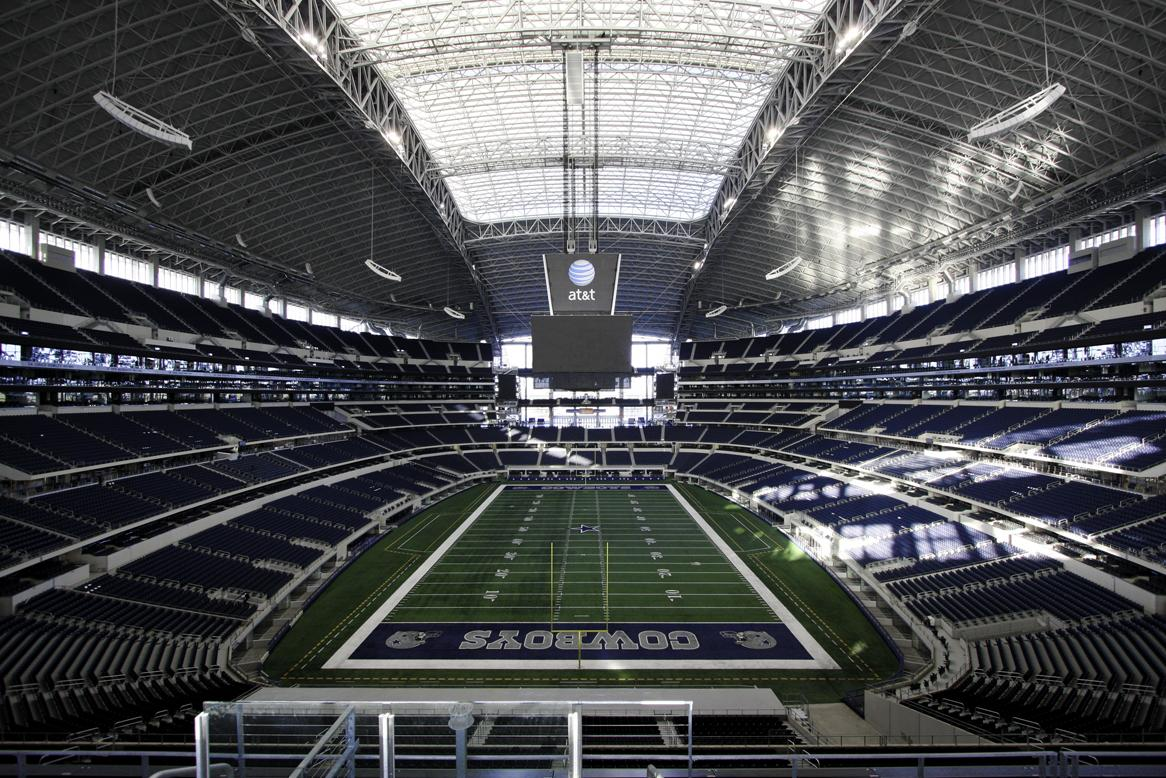 The 5 best nfl stadiums to visit thrillist for Dining options at at t stadium
