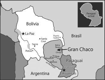 Territorios de Bolivia y Paraguay, en conflicto durante la Guerra del Chaco