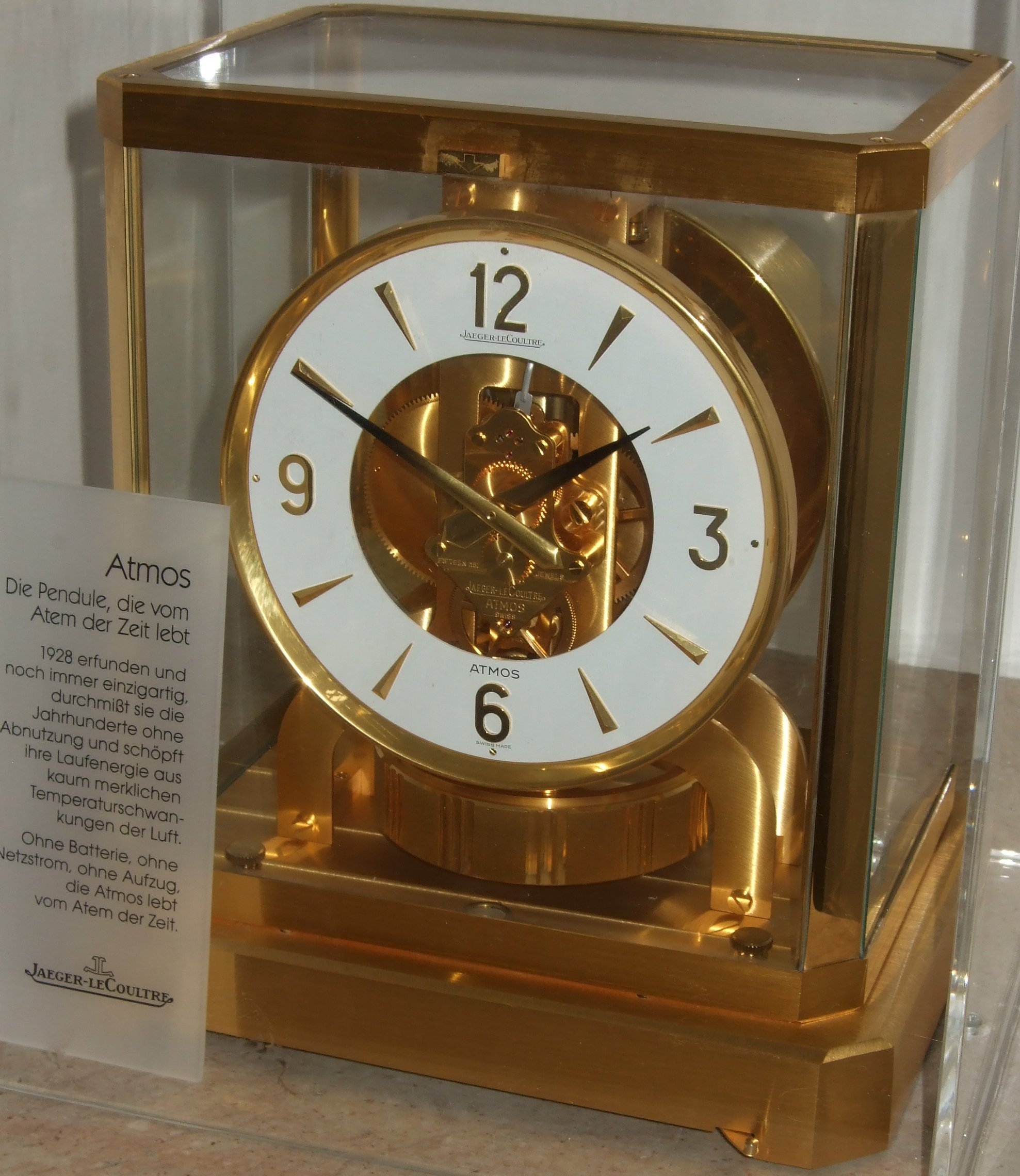 lecoultre atmos clock instructions