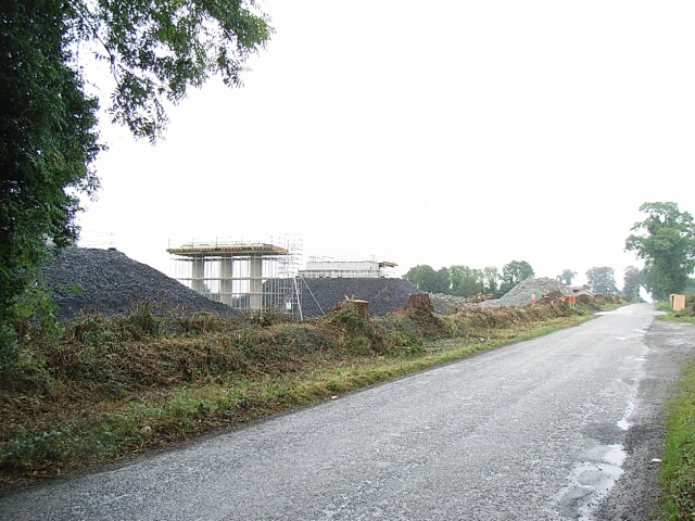 File:Durhamstown Road Overbridge Construction - geograph.org.uk - 573437.jpg