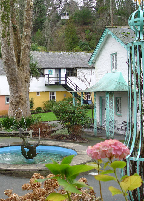 file flowers pastel houses courtyard with spouting