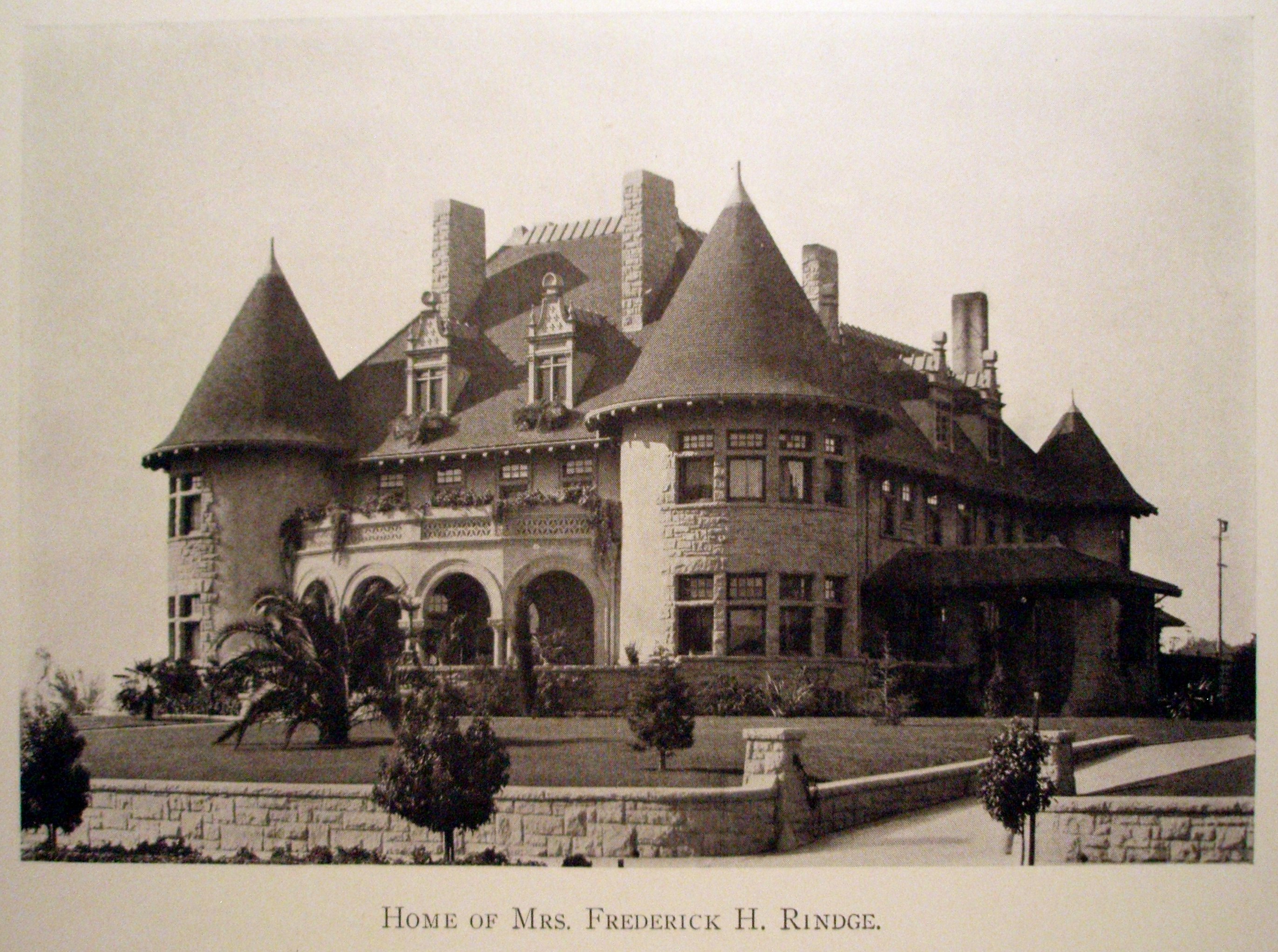 The Rindge House in 1910