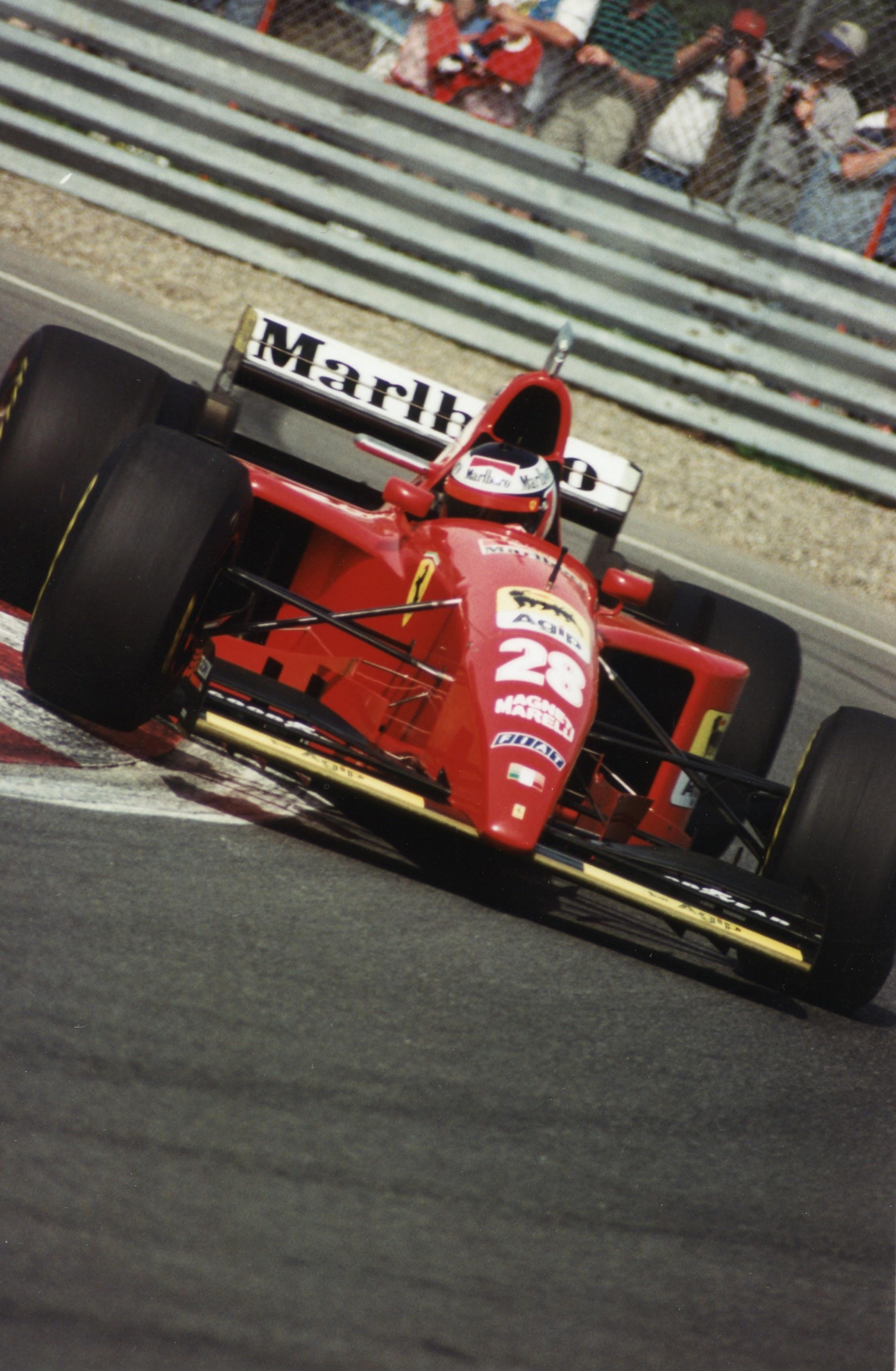 Gerhard Berger in een Ferrari 1995
