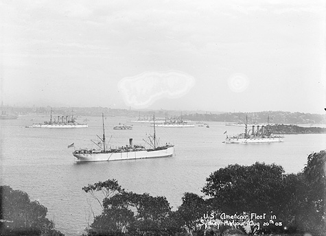 Great White Fleet in Sydney Harbor, 1908