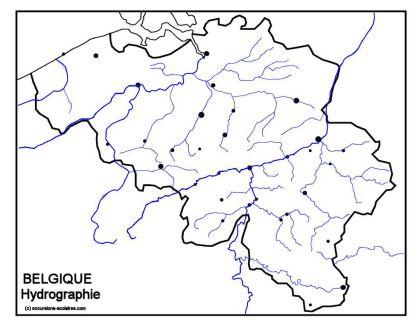 Carte Belgique Fleuves Et Rivieres.Liste Des Cours D Eau De La Belgique Wikipedia