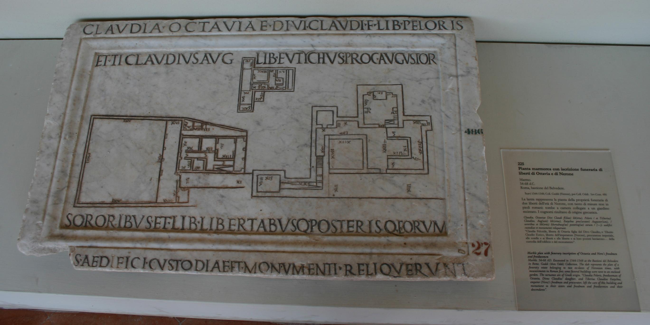 File:IMG 1082 - Perugia - Museo archeologico - Mappa romana - 7 ago 2006