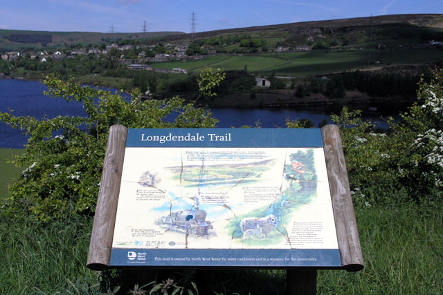 Information sign on Longdendale Trail - geograph.org.uk - 619898