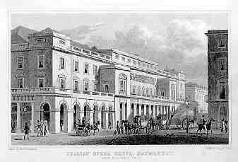 King's Theatre, London (aka Italian Opera House) by Thomas Hosmer Shepherd, 1827-28 Italian Opera House, Haymarket by Thomas Hosmer Shepherd 1827-28.JPG