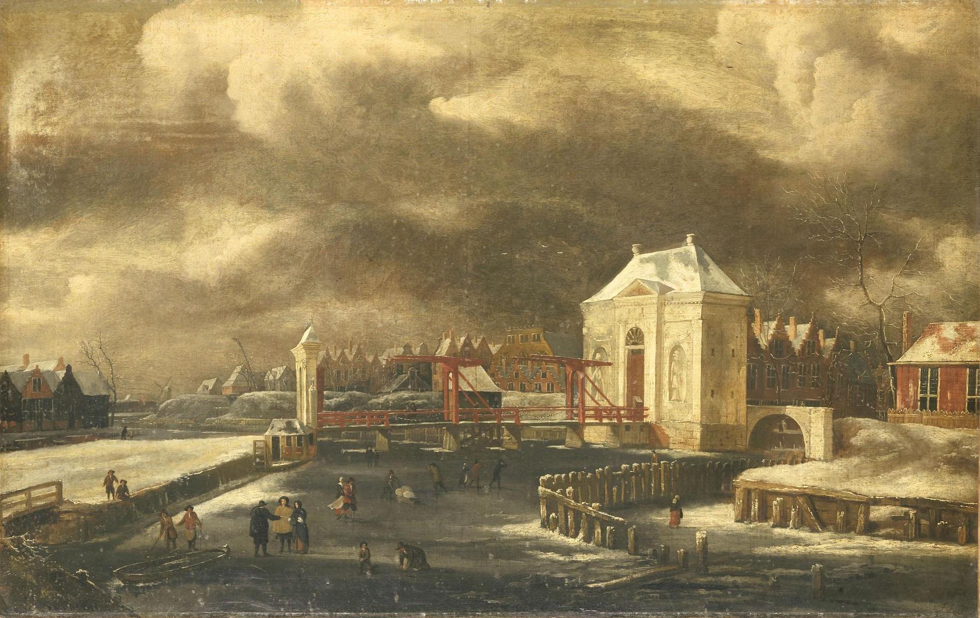 File:Jan van Kessel (1641-1680) - De Heiligewegspoort te Amsterdam in
