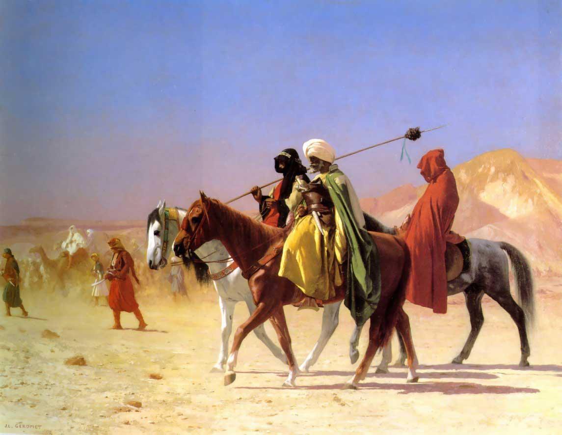 Jean-Leon_Gerome_-_Arabs_Crossing_the_De