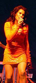 Jill Johnson på Lida Country Festival utanför Stockholm 2003.